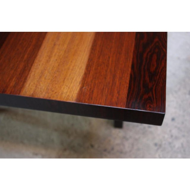 Milo Baughman Mixed Wood Dining Table For Directional - Image 11 of 11