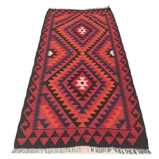 Handmade Traditional Kilim Rug - 3′4″ × 6′10″