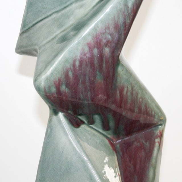 1950s Modern Cubist Ceramic Lamps - A Pair - Image 5 of 10