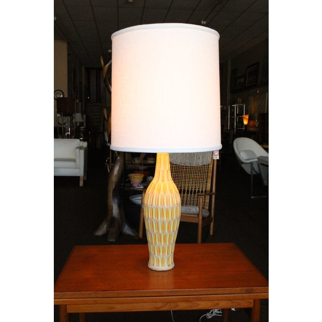 Raymor Italian Incised Pottery Lamp - Image 2 of 5