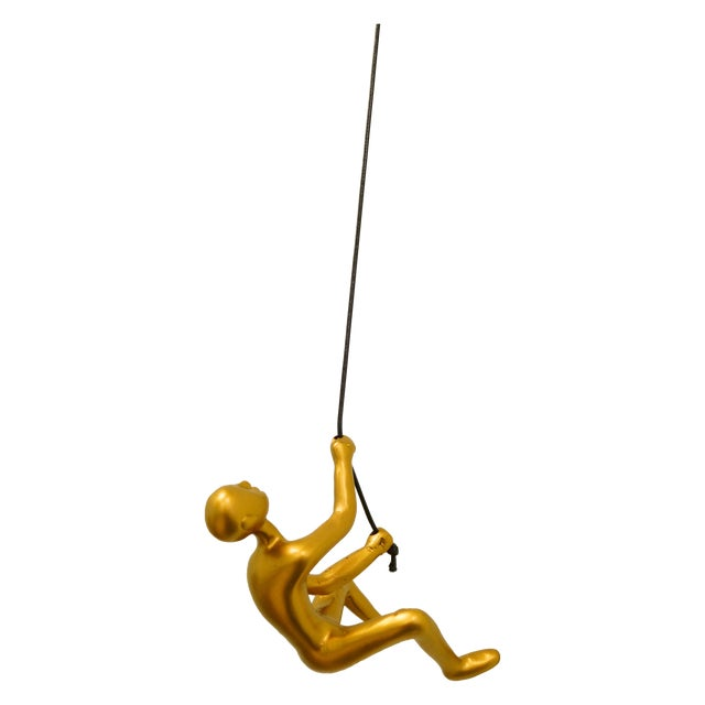 Gold Climbing Man Wall Art - Image 1 of 4