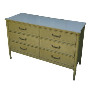 Faux Bamboo 6-Drawer Dresser
