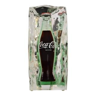 Vintage Lucite Coca-Cola Coke Table Sculpture Mid Century Modern Pop Art