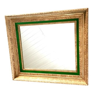 Antique Gilt Wood & Gesso Framed Mirror