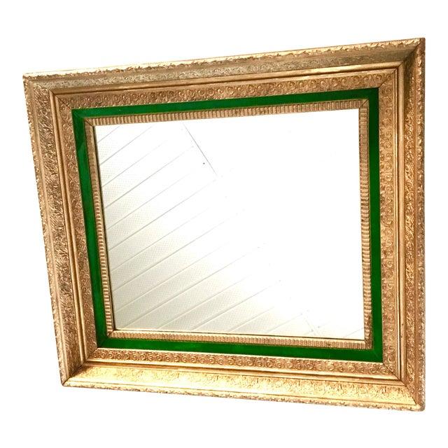 Image of Antique Gilt Wood & Gesso Framed Mirror