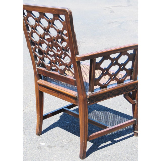 Chippendale Style Caned Chairs - A Pair - Image 3 of 5