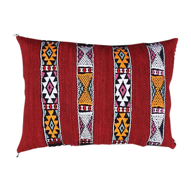 Berber Striped Moroccan Pillow - Image 1 of 2