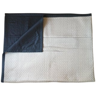 Hand-Stitched Silk Quilt Coverlet