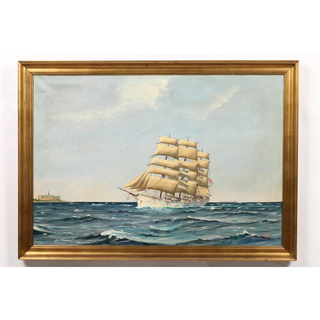 "Image of Danish Painting ""Sailing Ship"""