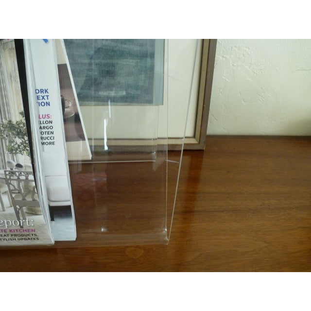 Image of Lucite W Magazine Holder
