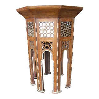 Moroccan Inlay Side Tables in Mother-of-Pearl