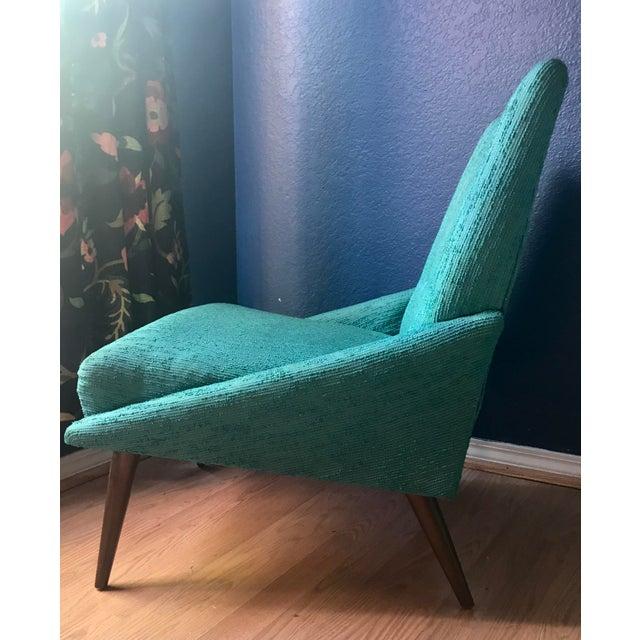 Teal Kroehler Slipper Chair - Image 8 of 8