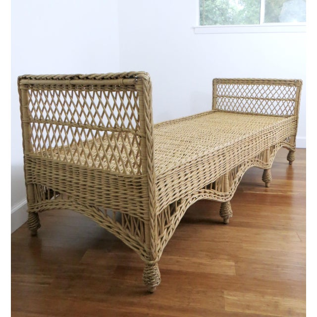 Vintage Wicker Rattan Daybed by Bar Harbor - Image 8 of 8