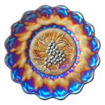 Image of Imperial Grapes Electric Carnival Glass Chop Plate