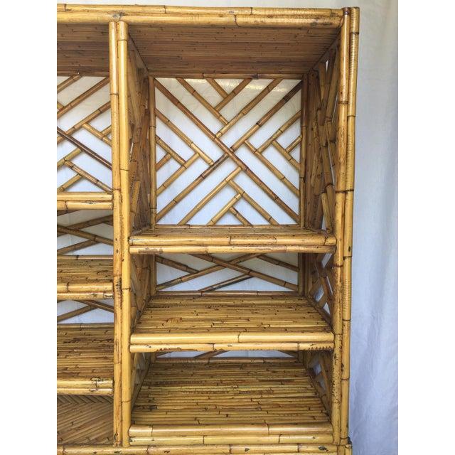 Vintage Split Bamboo Display Cabinet - Image 5 of 11