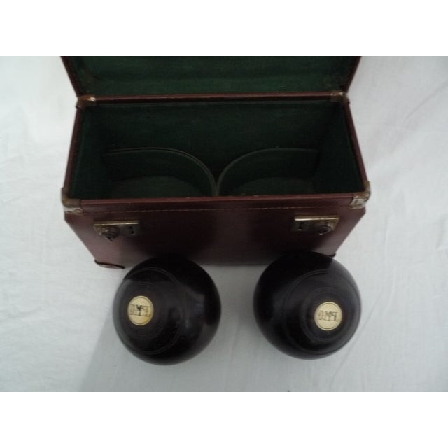 Image of Vintage English Lawn Bocce Balls in Case