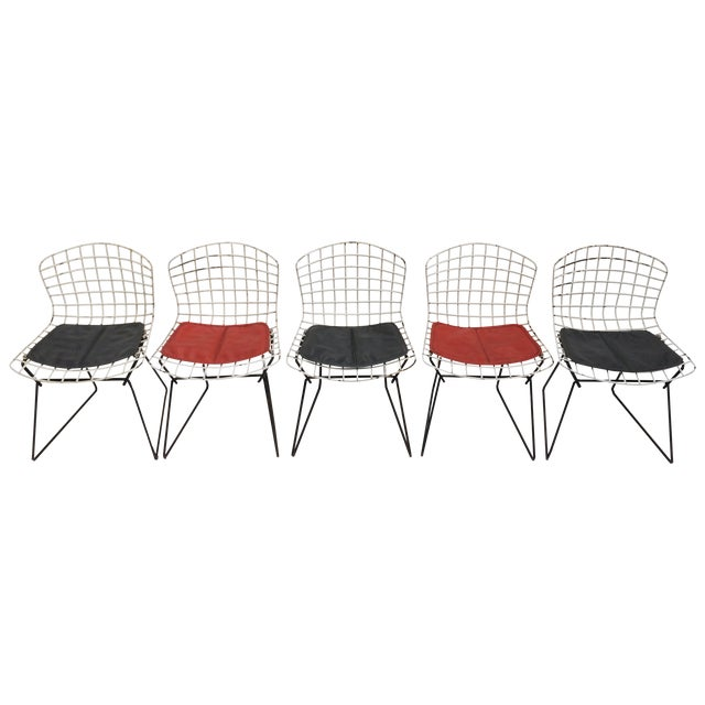 Knoll bertoia child size chairs set of 5 chairish for Kid sized furniture