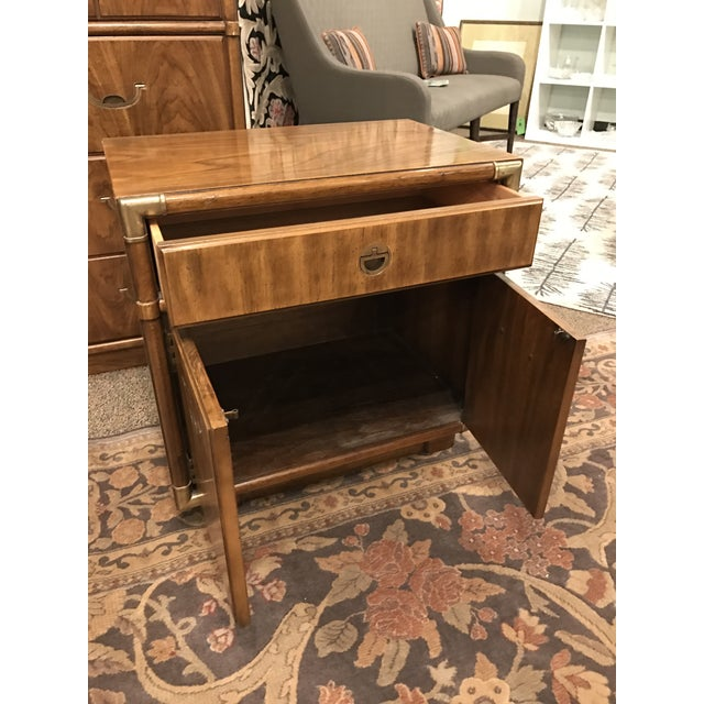 Drexel Campaign Side Table Chairish