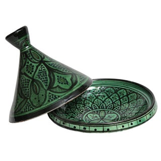 Hand-Painted Moroccan Ceramic Dish