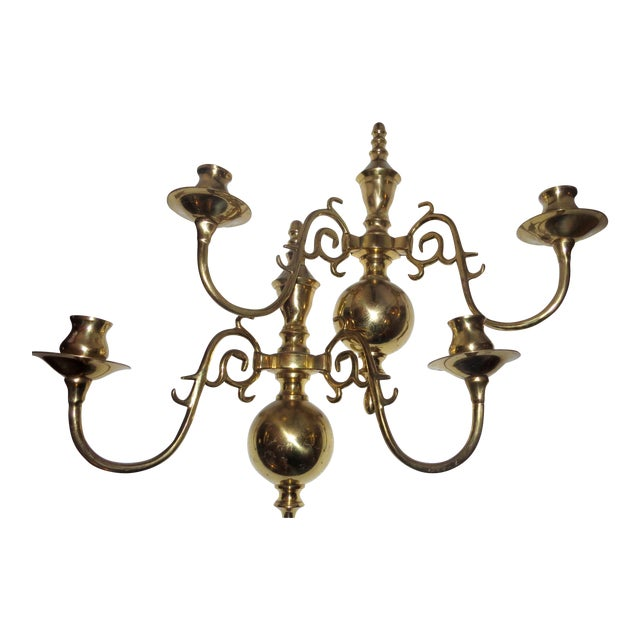Colonial Brass Wall Sconces : Brass Colonial Wall Sconces Candleholders - a Pair Chairish