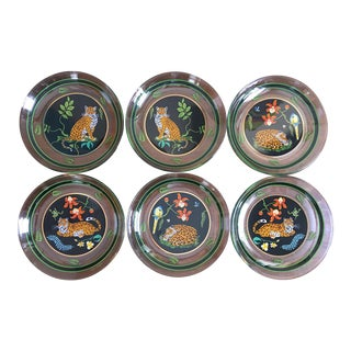 Lynn Chase Jaguar Jungle Glass Plates- Set of 6
