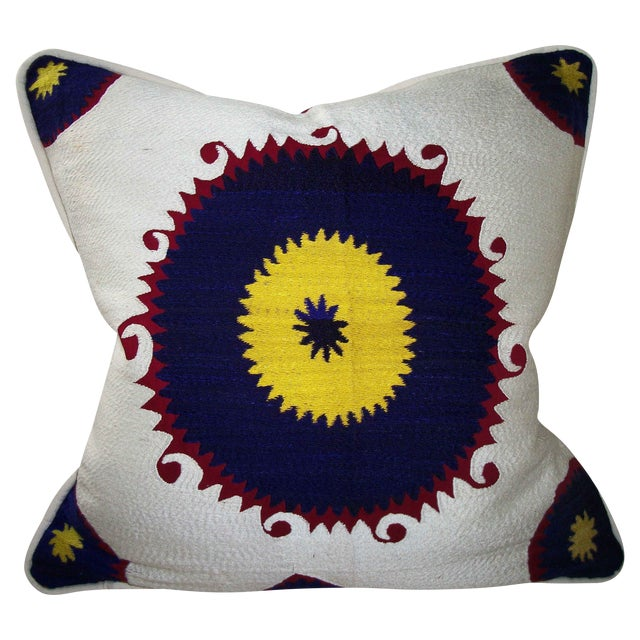 Vintage Suzani Bolinpush Pillow - Image 1 of 4