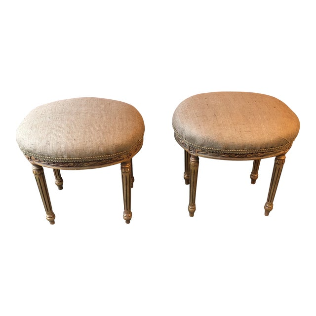 French Louis XV Neoclassical Stools - A Pair - Image 1 of 7