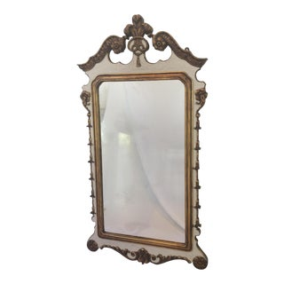 Carved and Partial Gilt Mirror by Berkey & Gay
