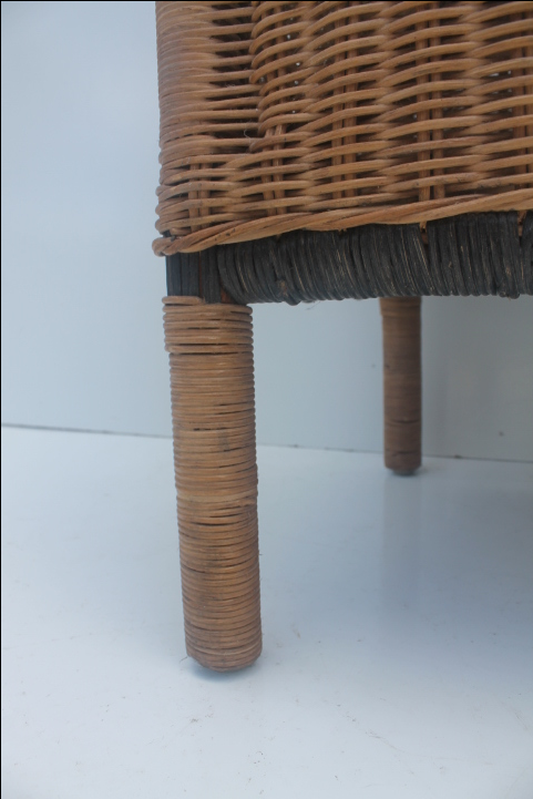 Vintage Wicker Vanity Bench Or Stool   Image 6 Of 11