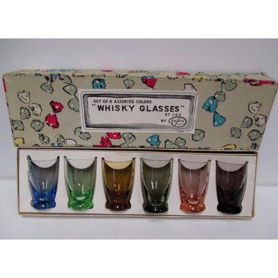 Vintage Napco Whisky Shot Glasses - Set of 6 - Image 2 of 6