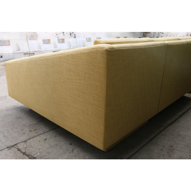 Yellow Sectional Sofa - Image 9 of 11