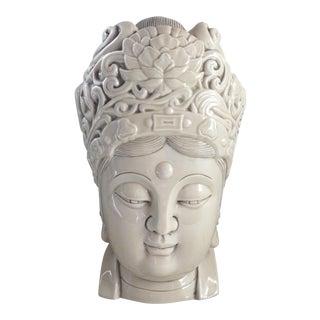 Chinese Blanc De Chine Quan Yin Goddess Head
