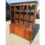 Image of Mid-Century Walnut China Cabinet