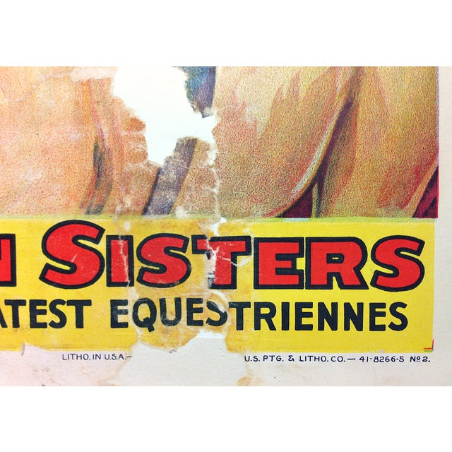 """Image of """"Allen Sisters"""" Circus Poster"""