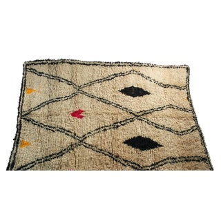 "Moroccan Vintage Beni Ourain Rug - 5'10"" X 8'5"""
