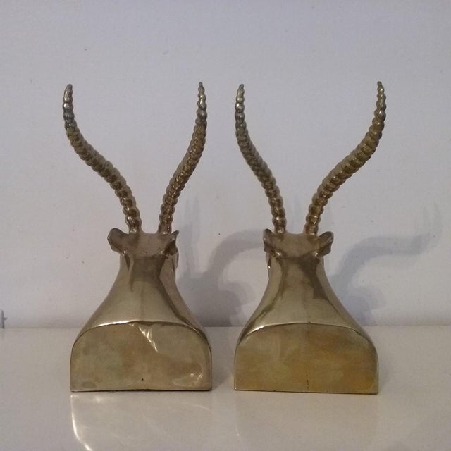 Image of Regency Brass Ibex Bookends - Pair