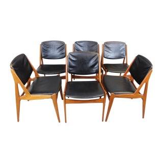 Arne Vodder Tilt Back Dining Chairs - Set of 8