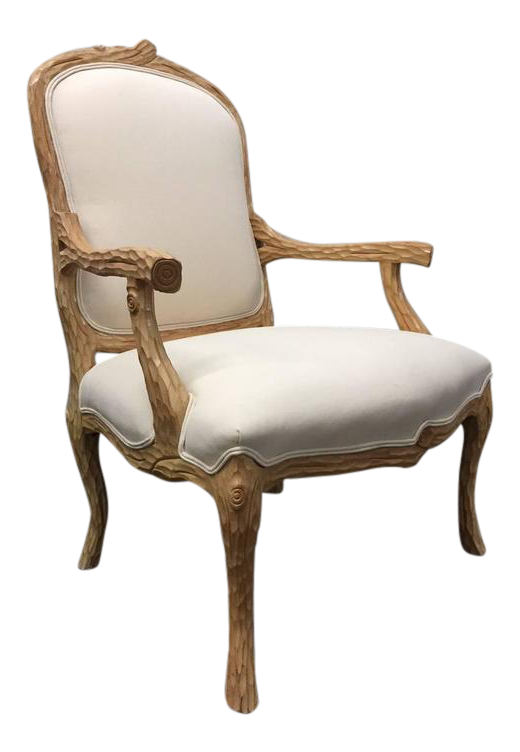 Carved French Country Armchair   Image 1 Of 7