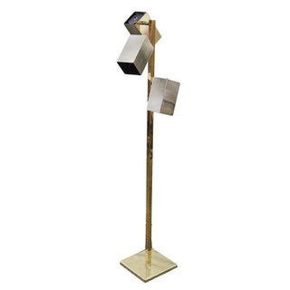 Vintage 3-Bulb Brass Floor Lamp