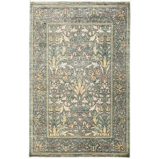 "Suzani Hand Knotted Area Rug - 4' 3"" X 6' 4"""
