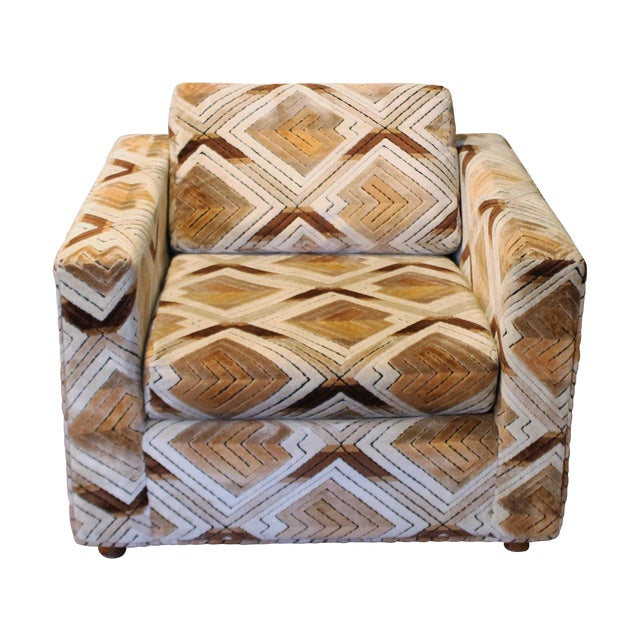Image of Vintage Geometric 1970s Cube Chair