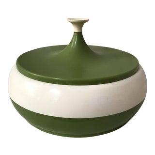 Vintage Green Lidded Canister