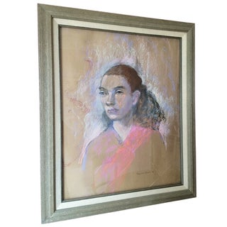 Marjorie Lubell Pastel Portrait of Girl