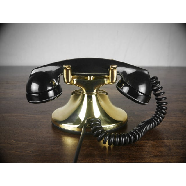 1930s Art Deco Brass Telephone - Image 4 of 4
