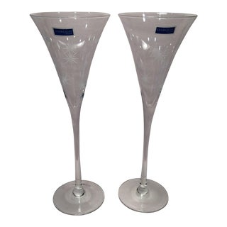 Vintage Waterford Marquis Champagne Flutes- A Pair