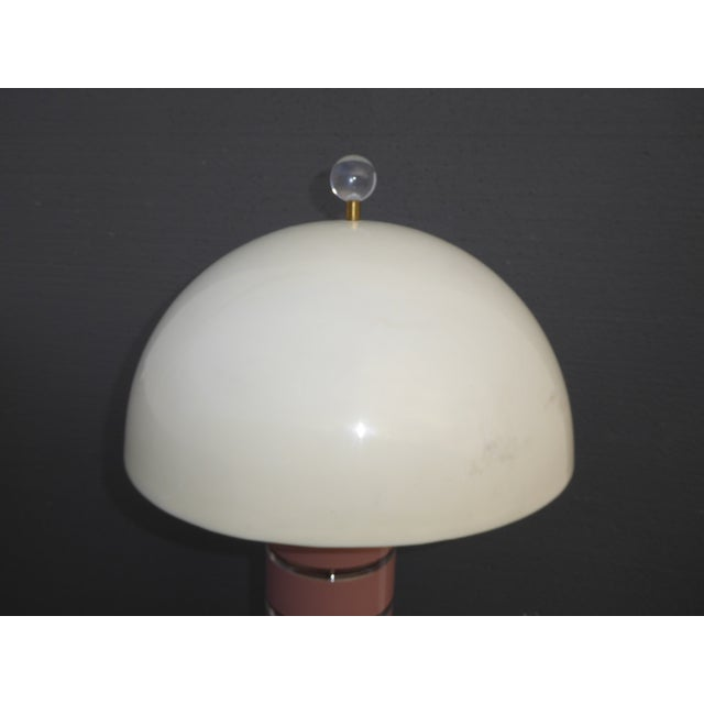 1980's Mid Century Modern Stacked Lucite Floor Lamp Light by Optique - Image 11 of 11