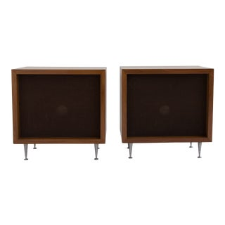 Pair of Walnut JBL Baron C38 Speakers Designed by Alvin Lustig