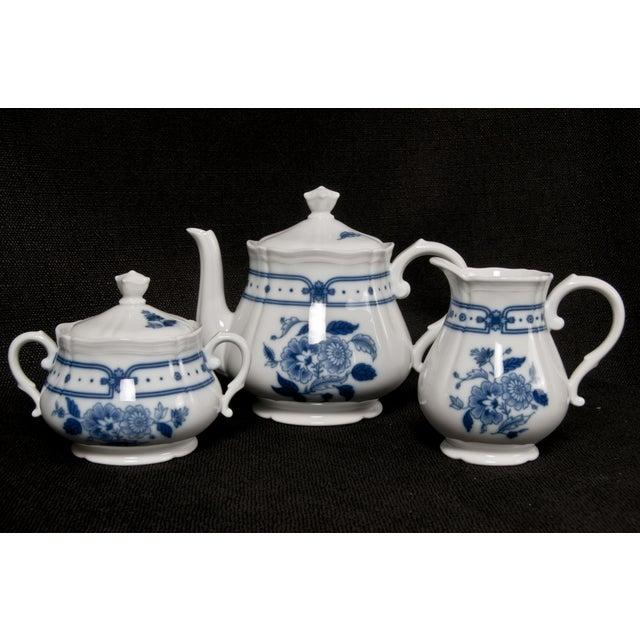 Italian Blue & White Tea Service - Image 2 of 6