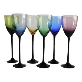 Mid-Century Wine Glasses, Set of 6