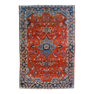 "Vintage Persian Lilihan Rug - 4' X 5'11"""